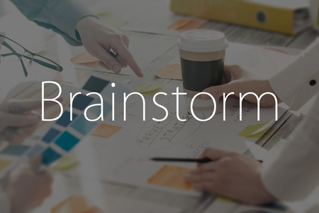it's: Brainstorming Brainstorm Business People Design Planning Stock Photo