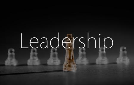 チェスのビジネスの成功、リーダーシップの概念。