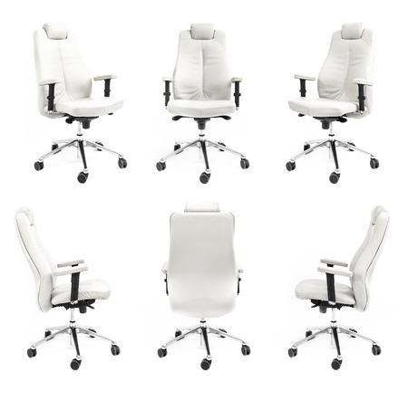 椅子背面前面側アームチェア ホワイト コレクション黒絶縁ビジネス新しいスタジオ席高級装飾コラージュ装置調整リラクゼーション誰もクライアン