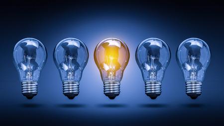 creative idea: Bulb Idea Light Creative Innovation Leader - Stock Image Stock Photo