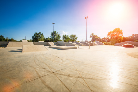 skating skate park skatepark design skateboard skateboarding empty concrete - stock image Фото со стока - 71933904