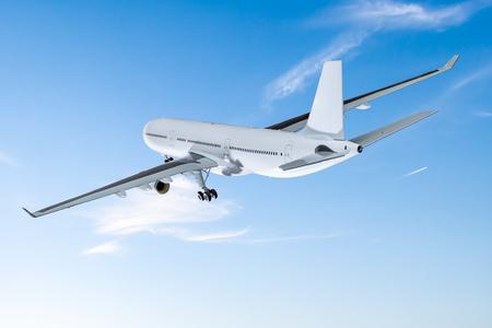 vliegtuig vervoer vliegtuig vervoer reiziger vlucht vliegen vliegtuig luchthaven reis straal bedrijf heaven concept - stock Stockfoto