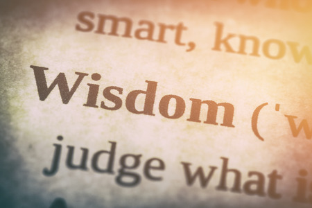 insight: wisdom word advisability dictionary page skills studying literature wise book experience concept trust insight intelligence close up definition concept - stock image