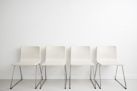 resources job employment career jobless recruitment interview business applicant hiring talent design hire chair white minimalism sitting blank space headhunting concept - stock image Stok Fotoğraf - 74151788