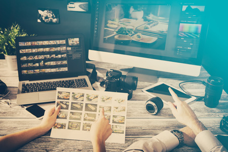 photography studio: photographer journalist camera photo dslr editing edit designer photography teamwork team memories lighting shooting commercial contemporary shoot objects objective concept - stock image