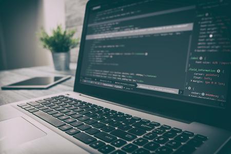 developer development web code tech coding program programming html screen script internet profession dictionary communication occupation identity concept - stock image