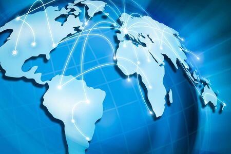 Concept de connexion Internet globale. Mondialisation dans le monde.