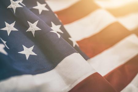 Bandeira americana para Memorial Day, 4 de julho ou Dia do Trabalho Foto de archivo - 83536775
