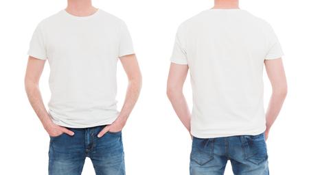 shirt modèle blanc hommes mockup tshirt blanc - image