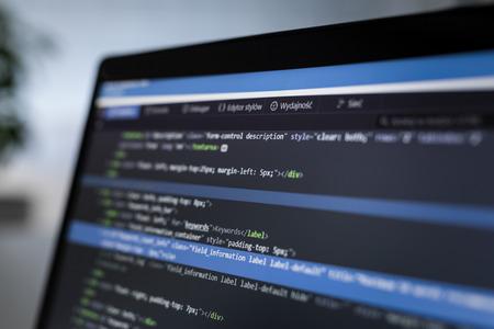L'élaboration de programmes et technologies de codage. Création de site web. concept Cyber ??espace.