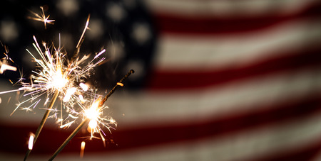 Amerikaanse vlag voor Memorial Day, 4 juli of Labor Day