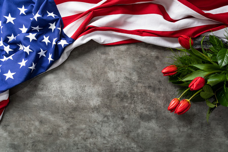 American flag for Memorial Day, 4th of July or Labour Day 免版税图像 - 106058426