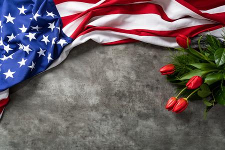 Drapeau américain pour le Memorial Day, le 4 juillet ou la fête du travail