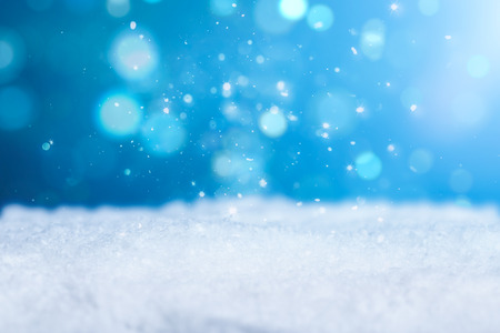 snow background light cold empty blue space white xmas season card january frost falling concept - stock image