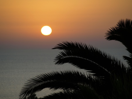 mediterranian: Mediterranian sunset Stock Photo