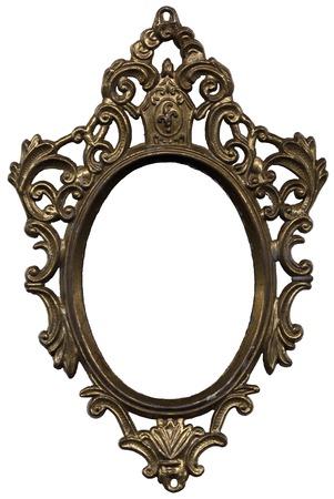 Old Mirror Frame Stock Photo