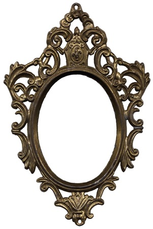 Old Mirror Frame Stock Photo