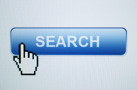Blue Search Button and Cursor