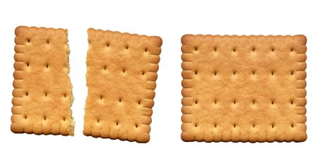Yummy shortbread biscuit - whole and broken in two halves