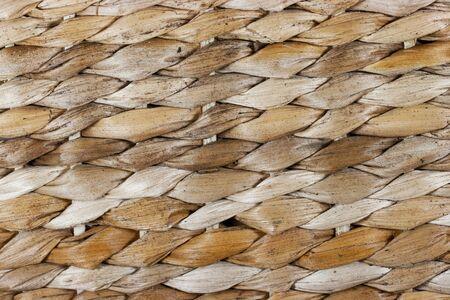 Closeup of a natural woven basket texture