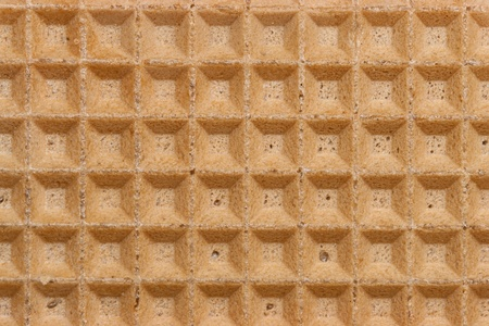 Closeup of a waffle texture