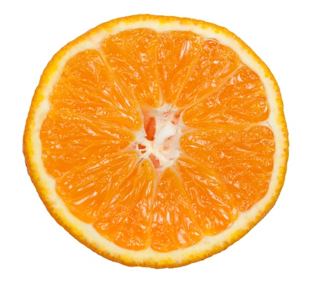 Isolated half of a tangerine