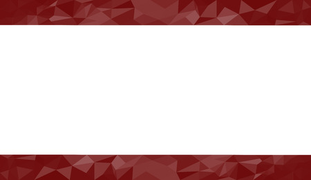 room for copy: Red abstract geometric triangular polygon style illustration graphic background for presentation with room for copy, photos and more