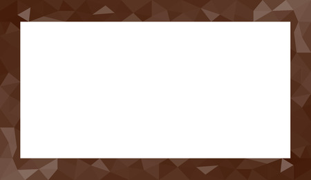 room for copy: Brown abstract geometric triangular polygon style illustration graphic background for presentation with room for copy, photos and more