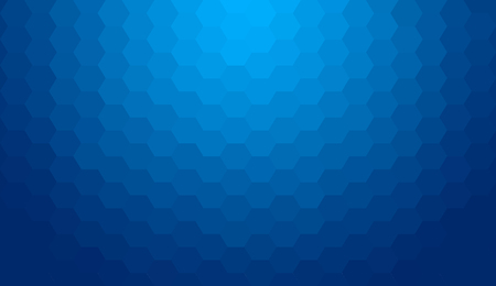 Blue abstract geometric gradient hexagon pattern background