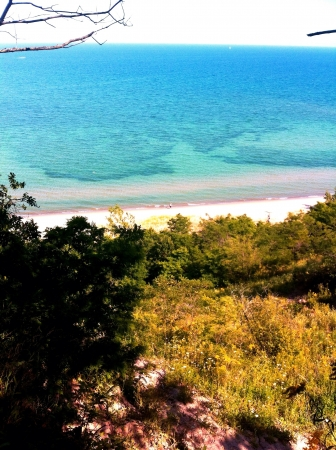 Viewing Lake Michigan from Mequon Wisconsin
