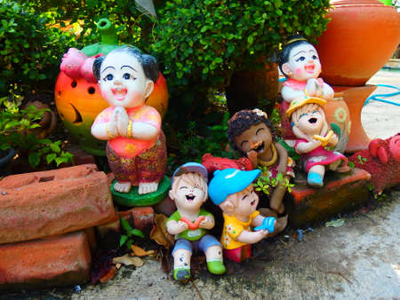 colorfull: Thailand stucco Doll colorfull