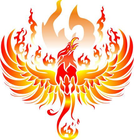 ave fenix: Phoenix Vector Fuego