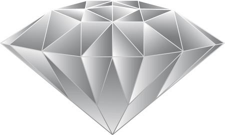 Diamond Vector Gray