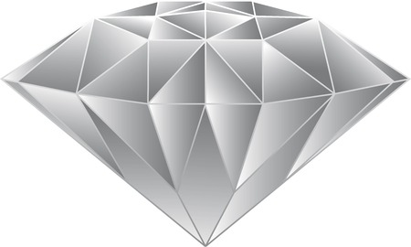 Diamond Vector Gray