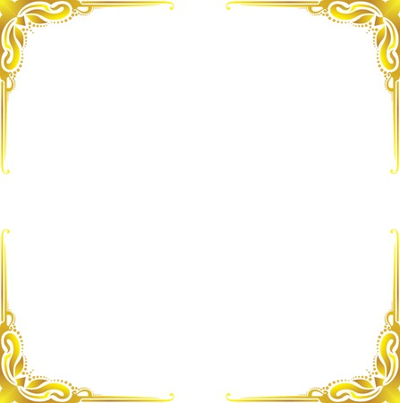 Gold frame floral Illustration