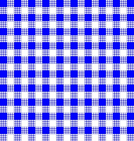 picnic blanket: blue square pattern textured