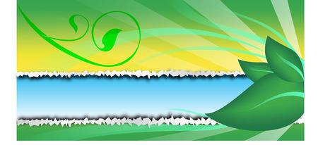 leaf background: green leaf background text frame