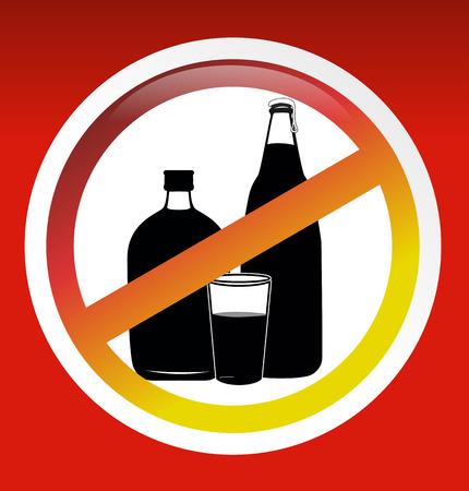 spirituous beverages: no drink sign