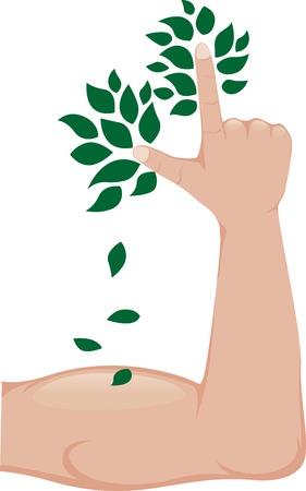 stylized tree arm vector