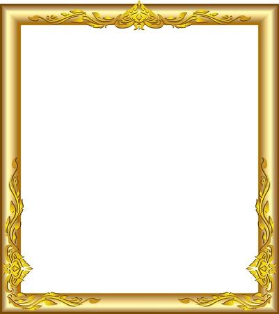 gold floral: gold frame floral line art design luies