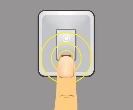 light switch: human finger pushing light switch please