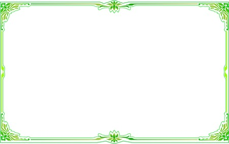 frame green floral corner vector