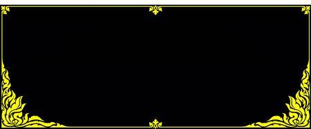 line thai: gold frame corner line thai