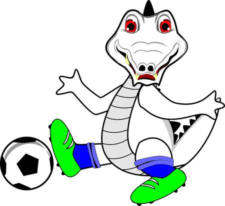 futbol soccer dibujos: Cocodrilo blanco juego soccor