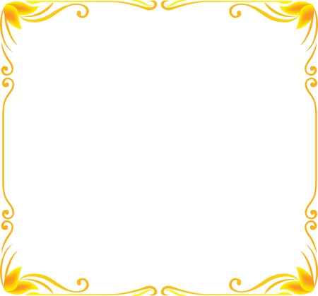 corners: gold frame floral vector