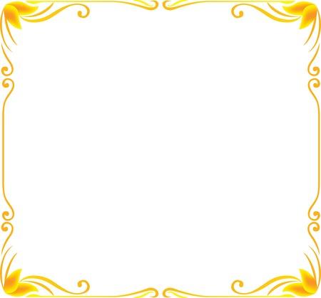 gold frame floral vector Stock Vector - 44354882