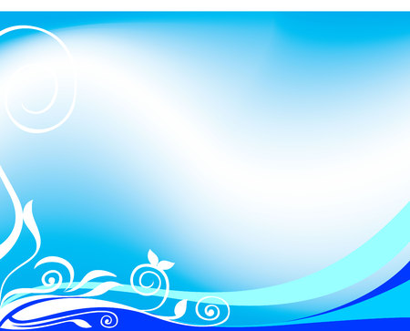 bottom: blue background wave bottom