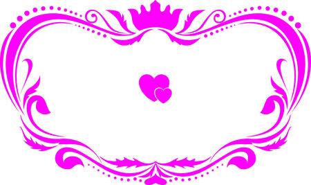 pink frame wedding floral