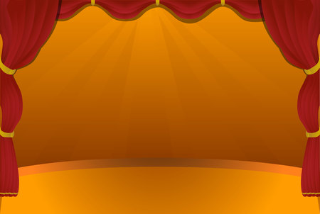 red stage curtain: Red stage curtain Illustration