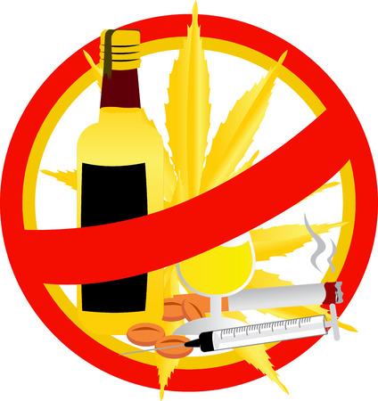 no drug sign vector gold color